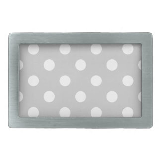 Gray Polka Dot Pattern Rectangular Belt Buckles