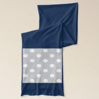 Gray Polka Dot Pattern Scarf