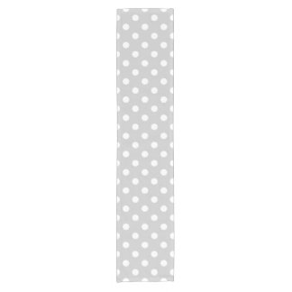 Gray Polka Dot Pattern Short Table Runner