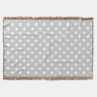Gray Polka Dot Pattern Throw Blanket