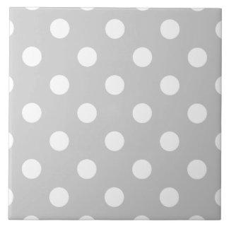 Gray Polka Dot Pattern Tile