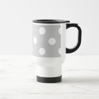 Gray Polka Dot Pattern Travel Mug