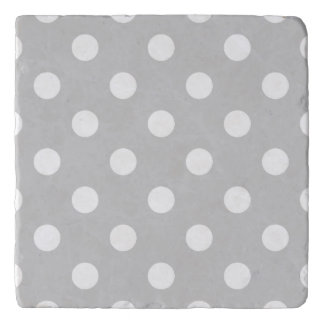 Gray Polka Dot Pattern Trivet