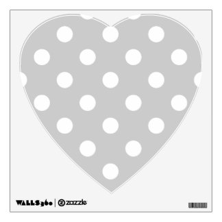 Gray Polka Dot Pattern Wall Sticker