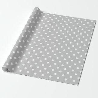 Gray Polka Dot Wrapping Paper
