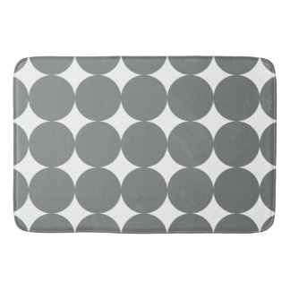 Gray Polka Dots Bath Mat
