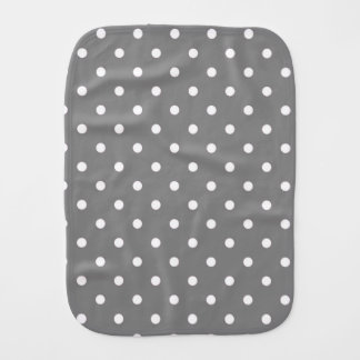 Gray Polka Dots Burp Cloth
