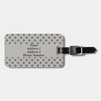 Gray Polka Dots Luggage Tag