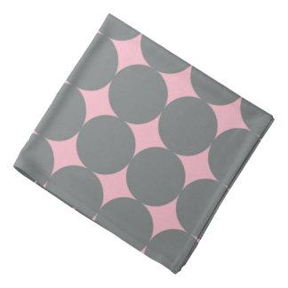 Gray Polka Dots On Pink Retro Pattern Bandana