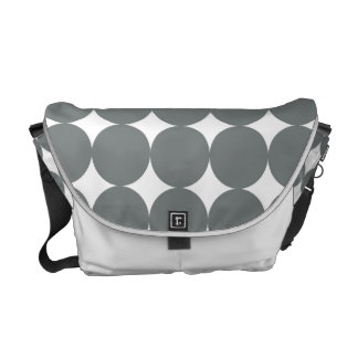 Gray Polka Dots On White Vintage Pattern Commuter Bag