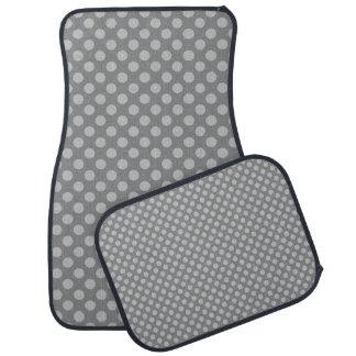 Gray Polka Dotted Car Mats Car Liners