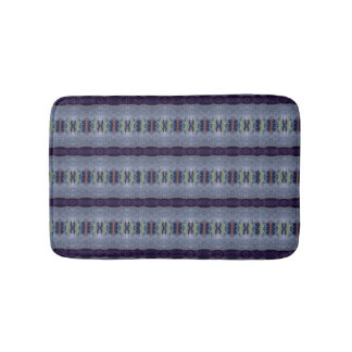 gray purple stripe bathmat