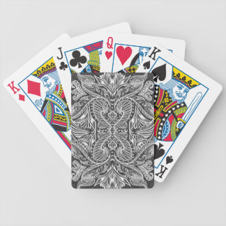 Gray, Raven of mirrors, dreams, bohemian Bicycle Playing Cards