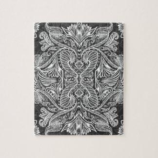 Gray, Raven of mirrors, dreams, bohemian Jigsaw Puzzle