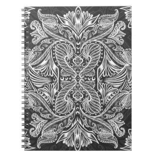 Gray, Raven of mirrors, dreams, bohemian Notebook