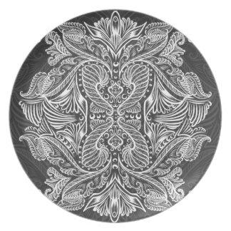 Gray, Raven of mirrors, dreams, bohemian Plate