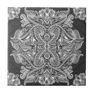 Gray, Raven of mirrors, dreams, bohemian Tile