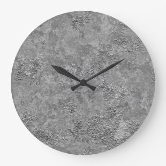 Gray Raw Concrete/Cement Industrial Clock