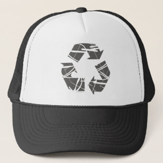 Gray Recycling Sign Trucker Hat