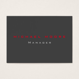 Gray red exclusive unique private business card
