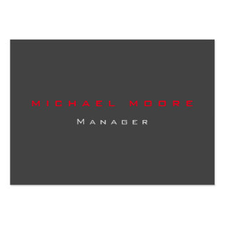 Gray red exclusive unique private large business card