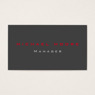 Gray red standard exclusive unique private business card