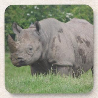 Gray Rhino Drink Coaster
