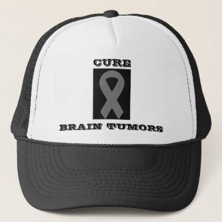 gray ribbon 2, CURE, BRAIN TUMORS Trucker Hat
