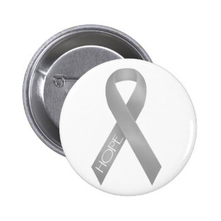 Gray Ribbon 2 Inch Round Button