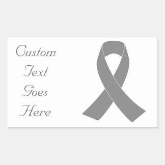 Gray Ribbon Awareness - Zombie, Brain Cancer Sticker