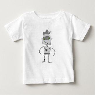 Gray Robot Buddy Baby T-Shirt