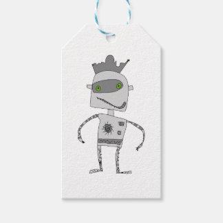 Gray Robot Buddy Gift Tags