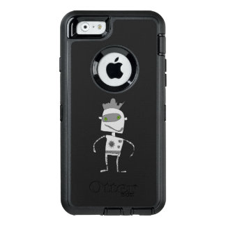 Gray Robot Buddy OtterBox Defender iPhone Case