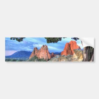 Gray Rock framed by Tree Bumper Sticker