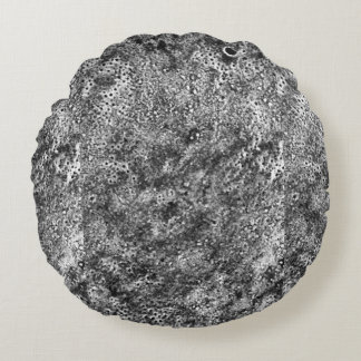 Gray Rock Texture Round Pillow