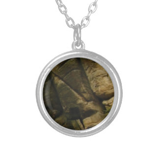 gray rocks of rumble silver plated necklace