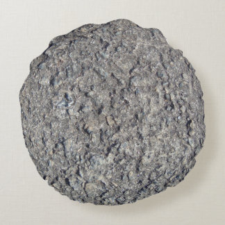 Gray Rough Concrete Texture 060 Round Pillow