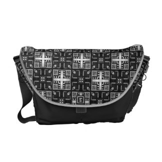 Gray Scale Modern Pattern 235 Courier Bag