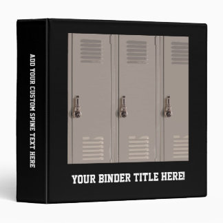 Gray School Lockers, High School Student 3 Ring Binder
