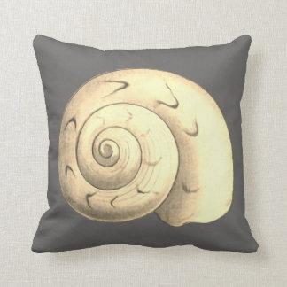 Gray Sea Shell reversible design Throw Pillow