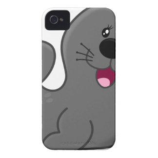 Gray Seal Cartoon iPhone 4 Case