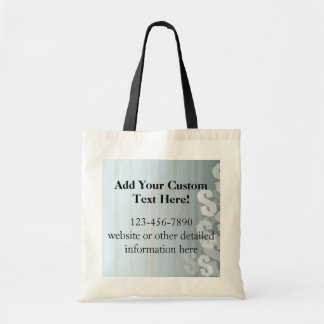 Gray Shades Dollar Signs Financial Design Tote Bag