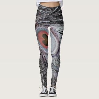 Gray Shadow Feather Leggings