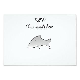 "Gray shark 3.5"" x 5"" invitation card"
