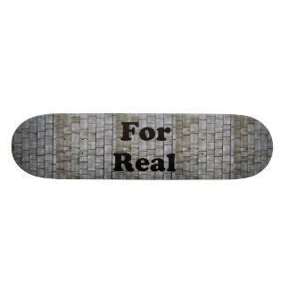 Gray Shingles Custom Skate Board