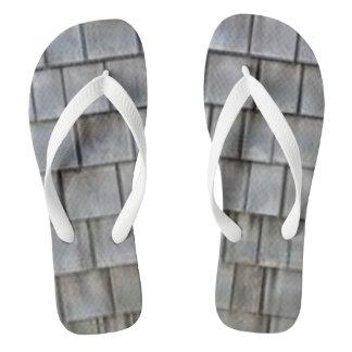 Gray Shingles Flip Flops