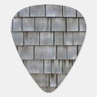 Gray Shingles Guitar Pick