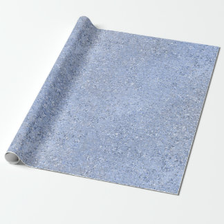 Gray Silver Blue Cement Crystal Abstract Pastel Wrapping Paper