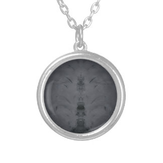 gray silver plated necklace