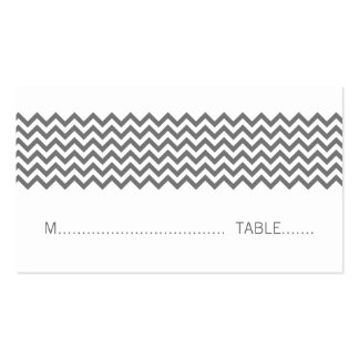 Gray Simple Chevron Place Card Double-Sided Standard Business Cards (Pack Of 100)
